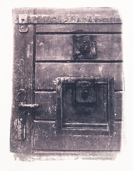 """""""Zellentüre #1074"""" (toned cyanotype)"""